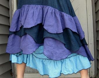 Wavy Ruffle Dress