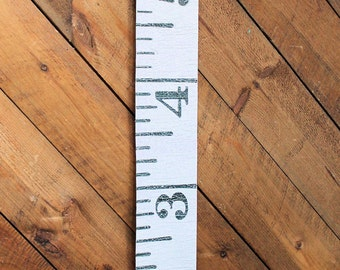 Growth Chart Children Ruler Growth Chart  Canvas Antique Vintage Reproduction