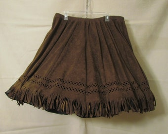 Square dance skirt - Suede Cowgirl