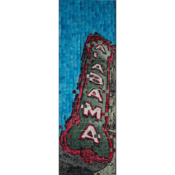 "Birmingham Alabama- Alabama Theatre- Architectural Art: 8""x24"" Original Painting"