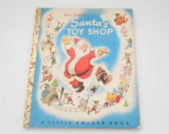 Vintage 1950 Copyright, Walt Disney's Santa's Toy Shop (30)  A Little Golden Book