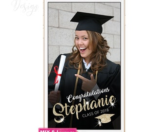 Geofilter Graduation, Snapchat Geofilter Party, Girl or Boy Graduation Geofilter, Custom Graduation Geofilter, Class of 2018