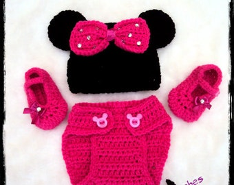 """baby minnie size new born """"available"""" set"""