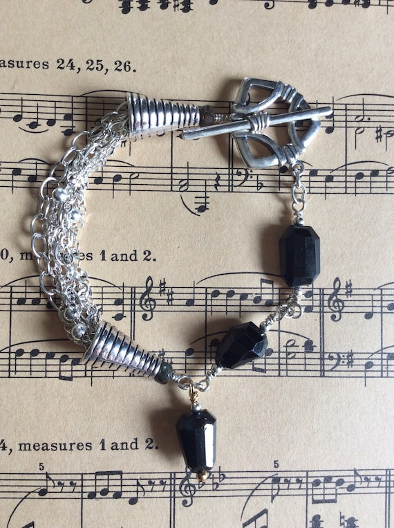 Onyx and sterling Jesco Jewelry signature bracelet!