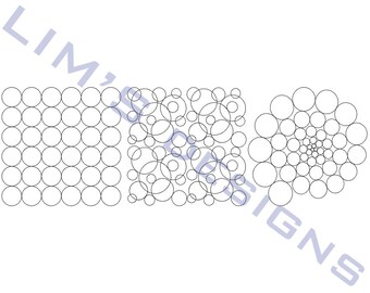 "Three Quilt Patterns N50 machine embroidery designs - 3 sizes 4x4"", 5x5"", 6x6"""