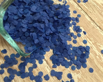 Blue Tissue Paper Confetti, MINI DOT Confetti, confetti balloon, funfetti, wedding confetti, brilliant blue table decor, baby boy shower