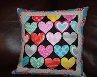 Valentine (Mistletoe) Pillow Slip Cover for an 18 inch Square Pillow Form