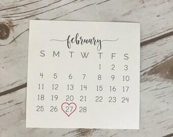 Due Date Calendar Card (DIGITAL FILE) | Pregnancy Reveal | Pregnancy Announcement