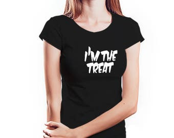 Im The Treat Womens Halloween Shirt
