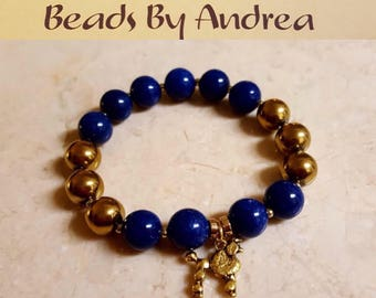 Sorority Charm Collection - Royal blue and gold