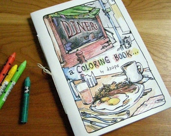 Diner, a Coloring Book