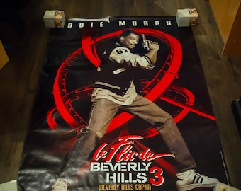 BEVERLY HILLS COP 3 (1994) Eddie Murphy Very Rare 4 x 6 ft french Grande Rolled Giant Movie Poster Original Vintage Collectible