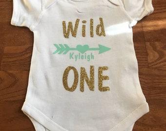 Baby onsie wild one