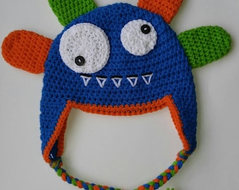 Crochet Silly Monster Hat