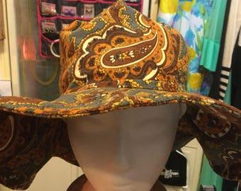 Floppy paisley hat