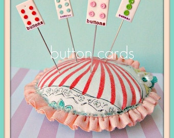 Assorted Colors Mini Buttoncard Pin Topper