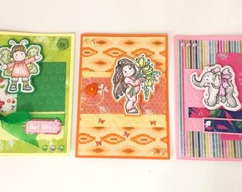 Set n. 3 Greeting Cards Watercolor