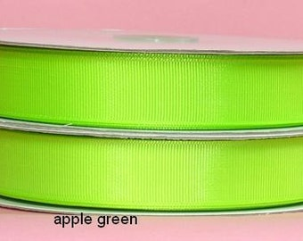 5/8 x 50 yds Grosgrain Ribbon - APPLE GREEN...Save 25%