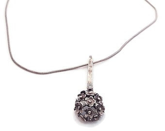 Pendant from 925 Sterling Silver Blackening. Necklaces Silver