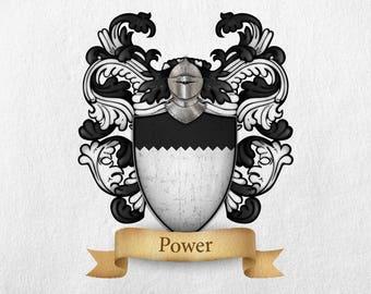 Power Family Crest - Print