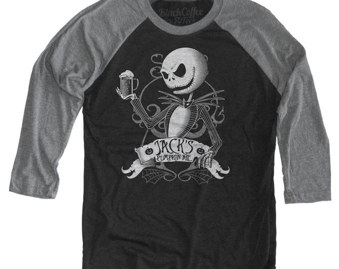 Halloween Shirt! Nightmare Before Christmas Shirt - Jack Skellington Shirt - Jack Skellington Drinking a Pumpkin Ale Unisex Beer Shirt