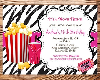 movie birthday party invitation Josemulinohouseco