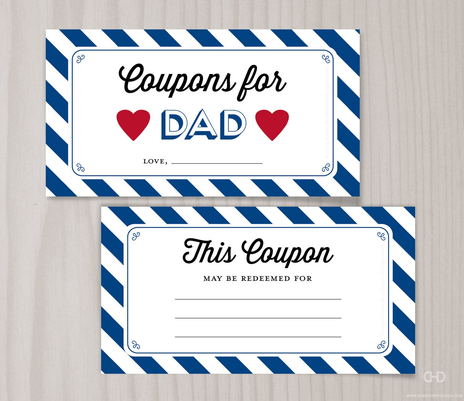 Christmas Coupons for Dad Blank Printable Coupons Blank