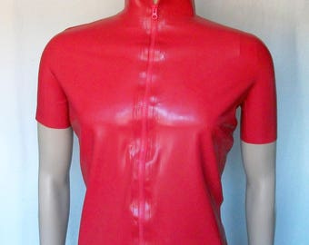 Latex T-shirt men, with zipper