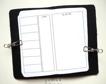 Traveller's notebook printable insert weekly Handlettering