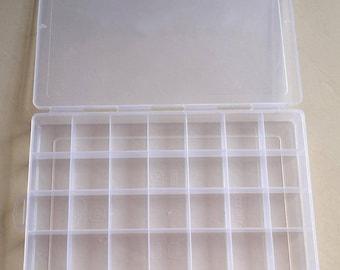 35 Compartment Transparent Plastic Box, Bead Storage Container, Plastic Box, Jewelry Supplies Plastic Case, Jewelry Making Organization Tool