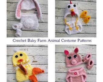 Crochet Baby Patterns, Newborn Crochet, Baby Animal Costumes, Crochet Costume Patterns, Instant Downloads, Crochet diaper Sets, PDF