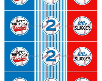 PRINTABLE PARTY CIRCLES or cupcake toppers - Baseball Birthday Party - Memorable Moments Studio
