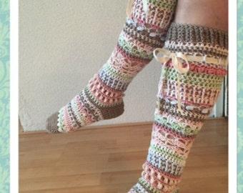 Crochetpattern Knee socks (English)