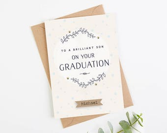 Son Graduation Card Personalised