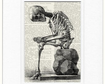 Skeleton dictionary page print