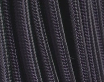 Black textile cable 2 strands - 0.75 mm 2