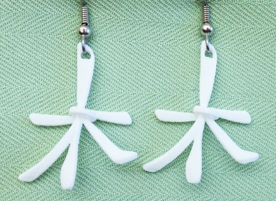 WOOD/TREE/Tu - 3D Printed Chinese character earrings
