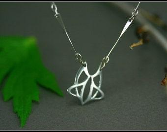 Art nouveau pewter pendant - antique jewelry - bronze and pewter pendant - celtic jewelry - handmade jewelry - medieval wedding - elfique