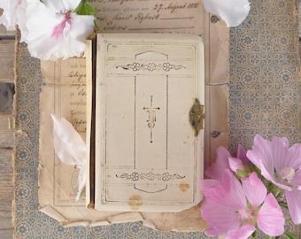 German white prayer book, 1922 , beautiful! vintage, retro, antique, book religious, brocante, jewel, church, book