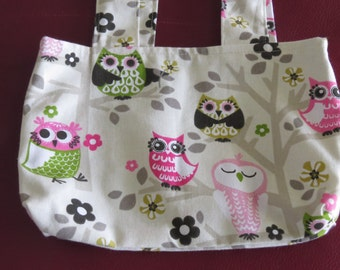 Owl Tote / Owl Bag / Reversible Bag / Owl Shoulder Bag / Bootsandbelle