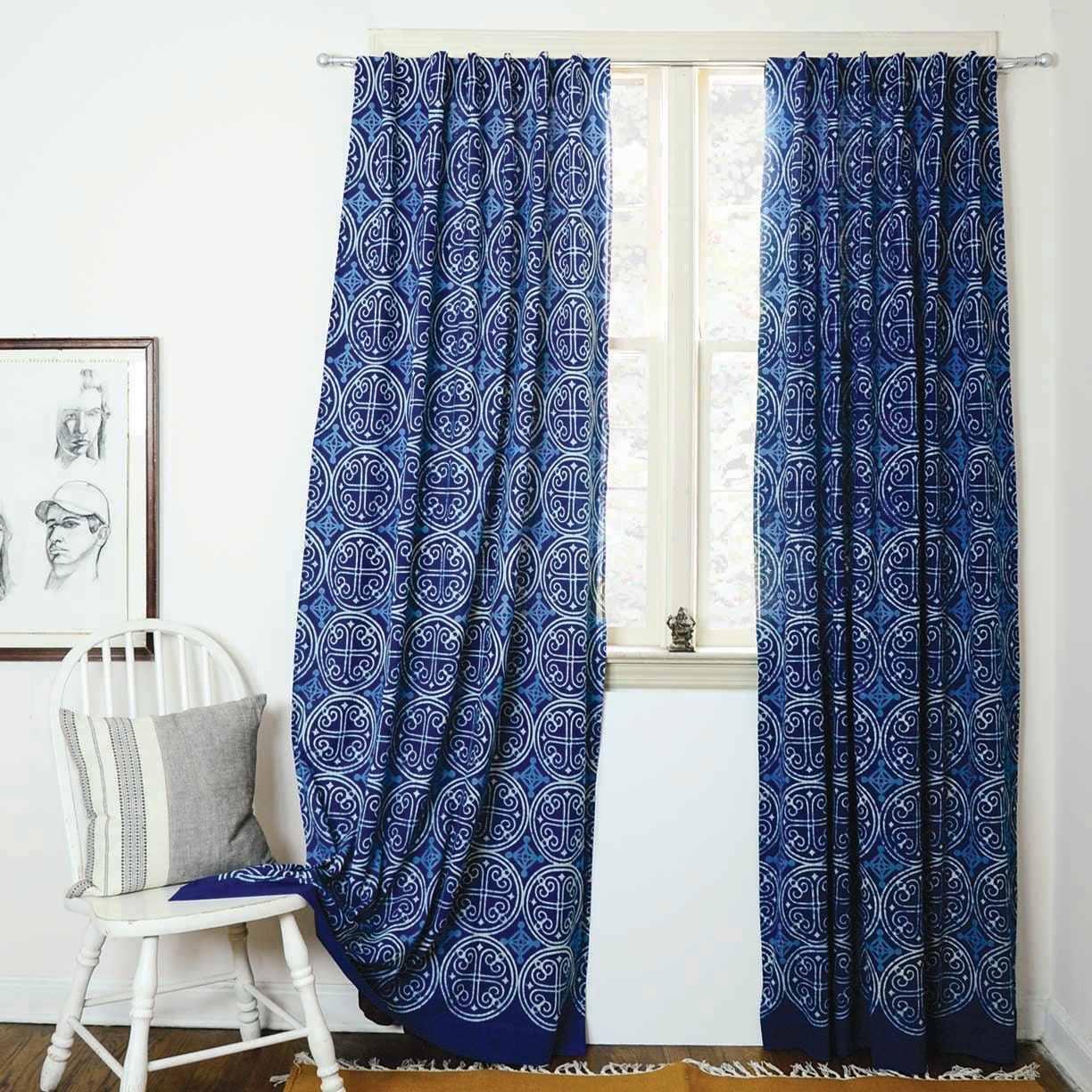 and overstock curtains curtain inch collection pair navy window jojo white sweet designs mint free deer product today blue for woodsy panel home treatment garden shipping