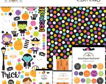 Booville Essential Kit by Doodlebug design / 12x12 double sided cardstock/ Embellishment/ paper sticker/