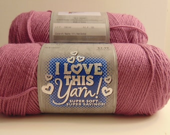 Hot Orchid - I Love This Yarn worsted weight 100% acrylic - 3010