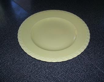 "Vernon Kilns Yellow Platter Plate Native California Melinda 12.25"" Vintage"