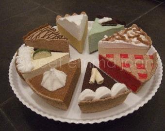 Felt Food Pattern PDF - Yummy Pie Assortment - DIY Felt Play Food