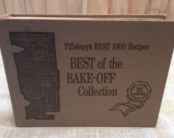 Vintage 1959 Pillsbury's Best 1000 Recipes / Best Of The Bake-Off Collection / Cook Book