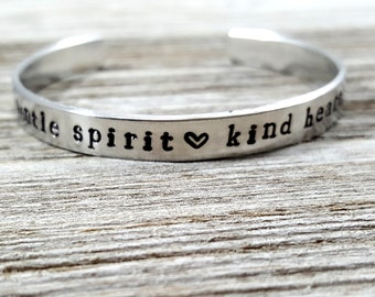 gentle spirit, kind heart -cuff