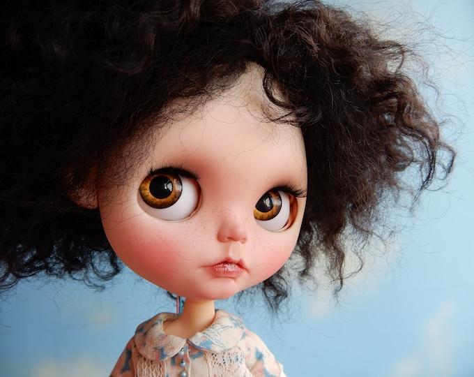 Custom Blythe Doll with black reroot