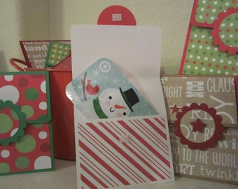 Christmas Gift Card Holders (set of 2), Holiday Gift Card Holders