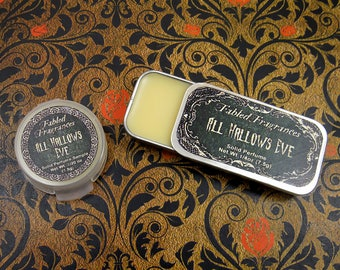 ALL HALLOWS EVE Solid Perfume with Pumpkin Pie, Brown Sugar, Peppercorn, Cinnamon, Black Musk, Vegan Perfume Balm, Ships Out In 5-8 Days